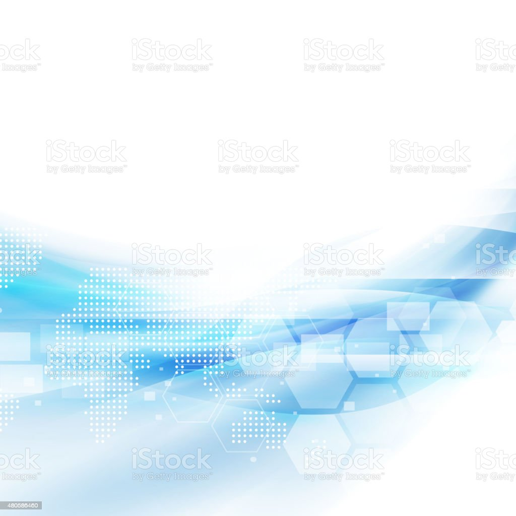 Abstract flow blue background for technology or science concept vector art illustration
