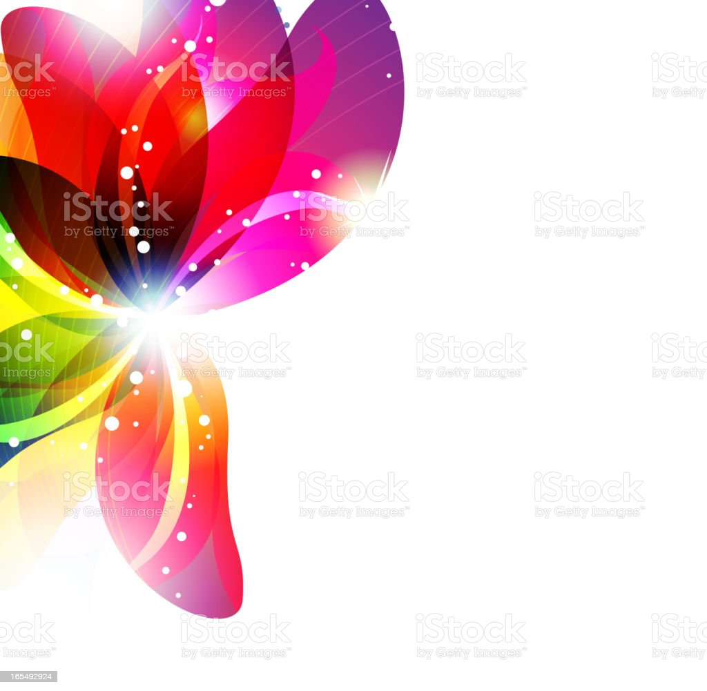 Abstract flower background royalty-free stock vector art