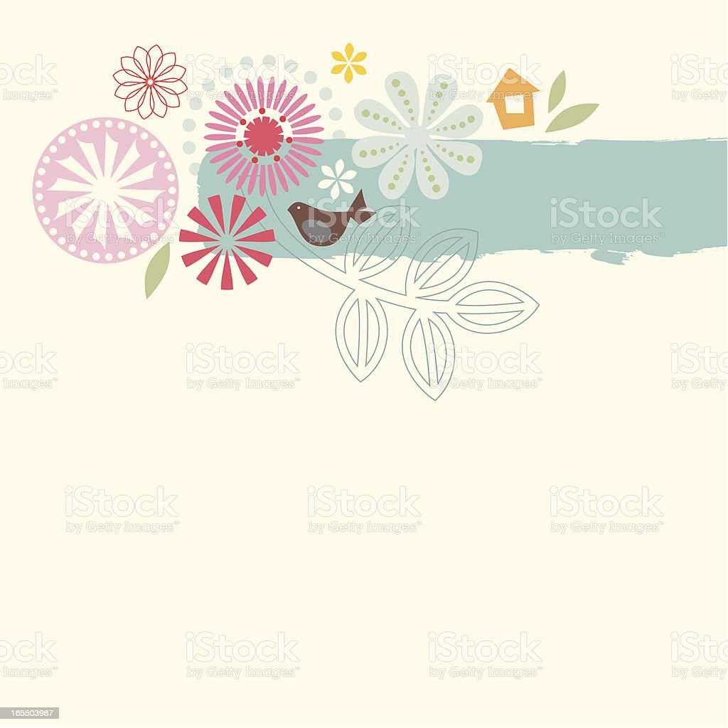 Abstract flower design royalty-free stock vector art