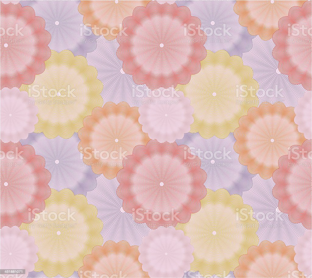 Abstract flower seamless background. Vector royalty-free stock vector art