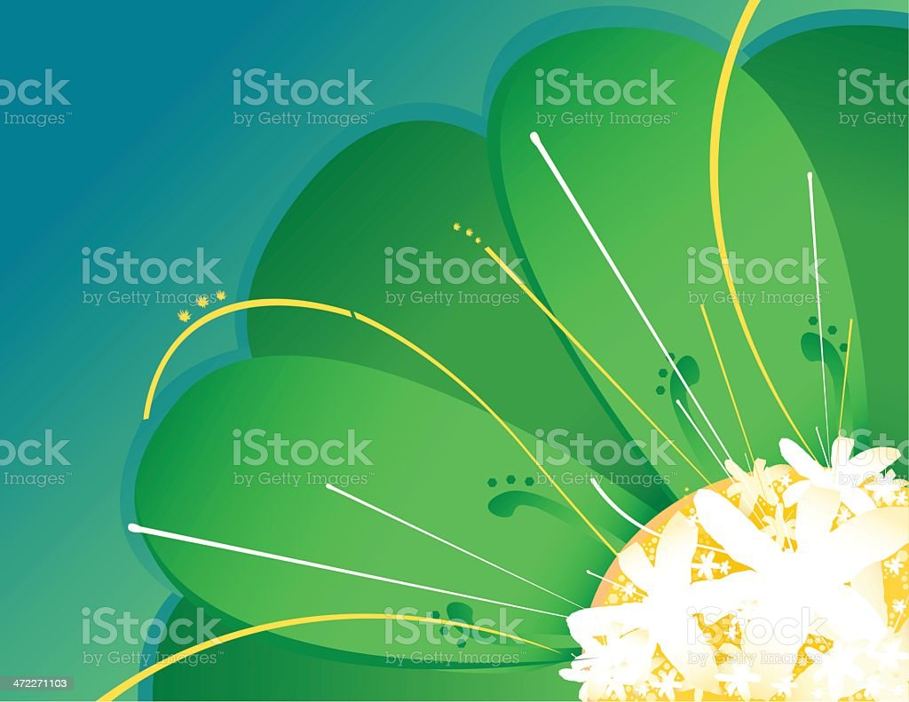 Abstract Flower [vector] royalty-free stock vector art