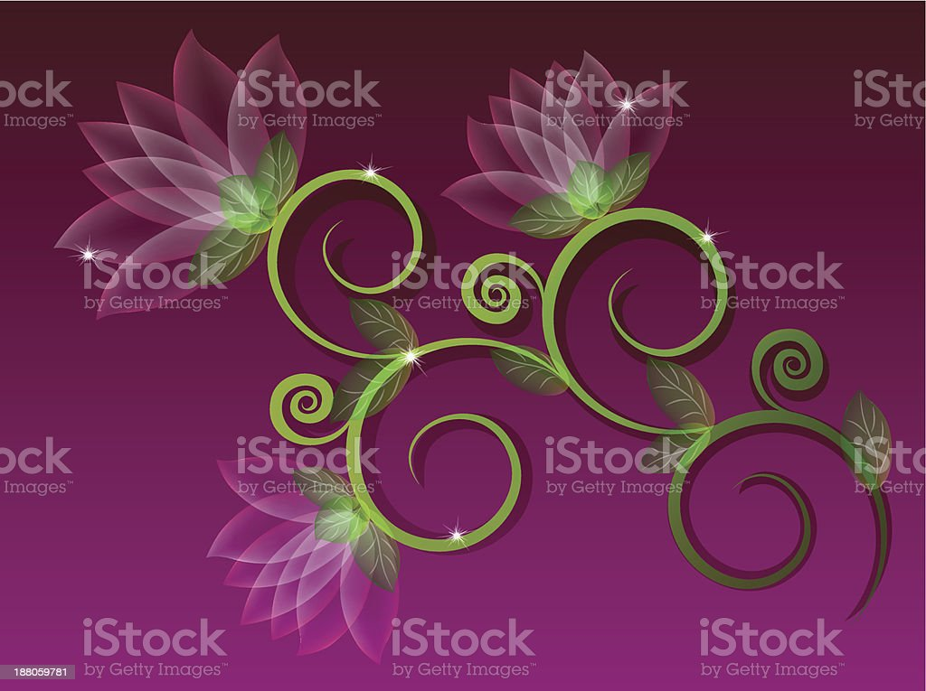 Abstract flowers. Background vector art illustration