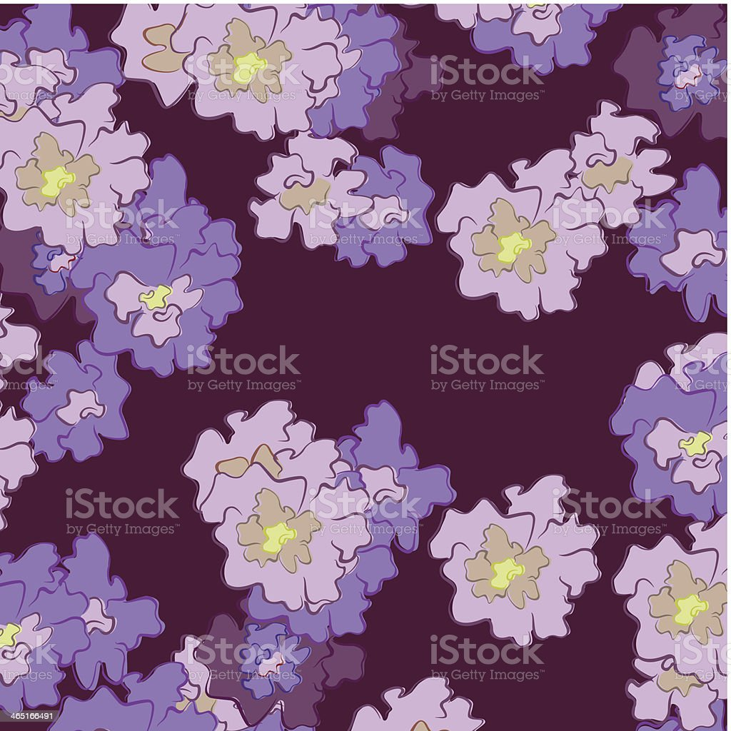 abstract flowers on a dark background royalty-free stock vector art