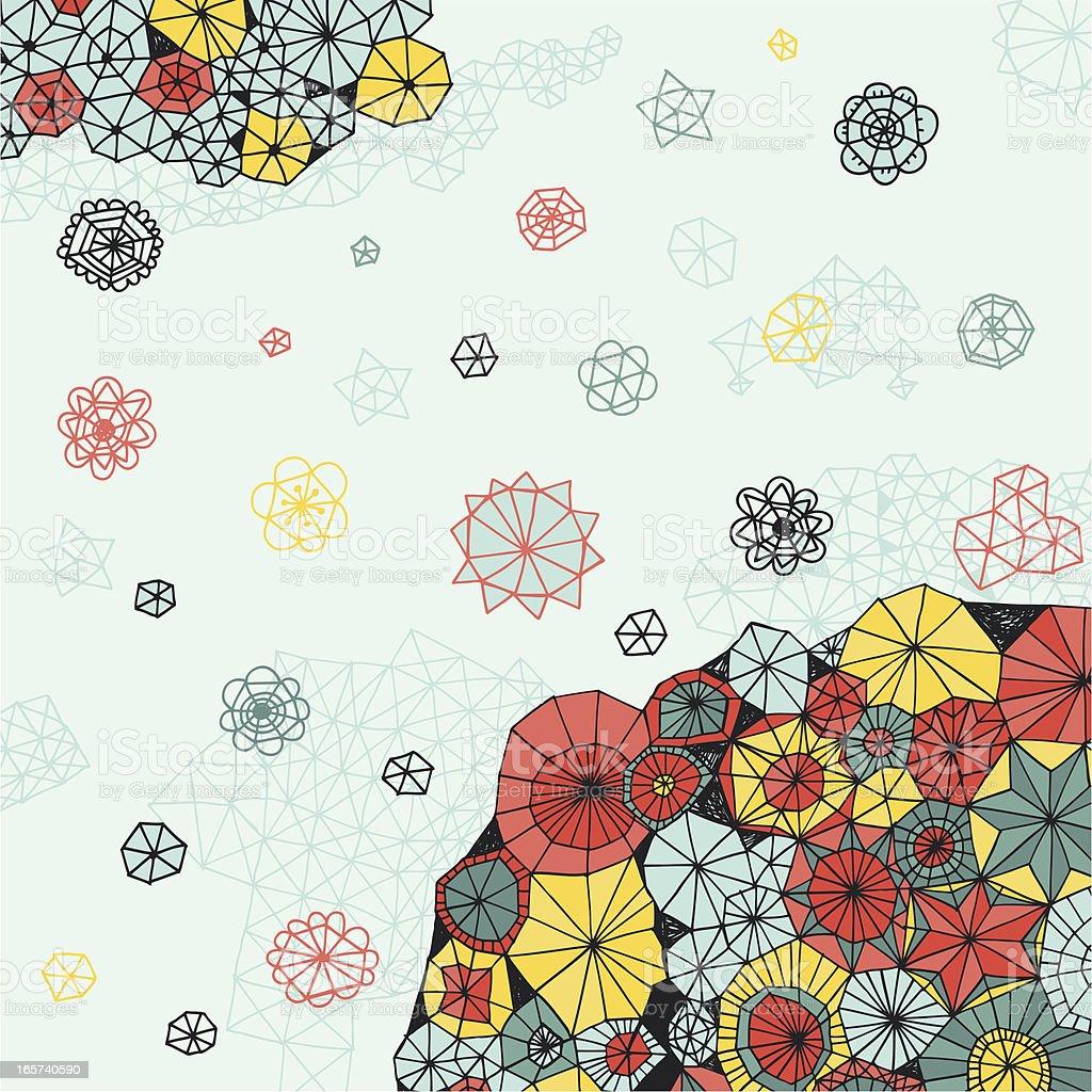Abstract flowers vector art illustration