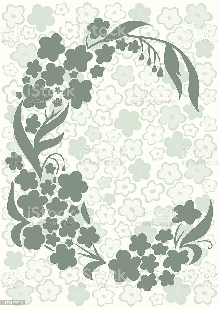 Abstract flowers with background royalty-free stock vector art