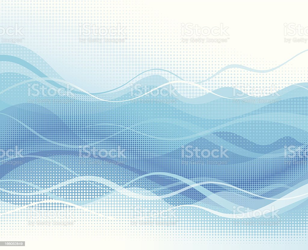 Abstract flowing vector art illustration