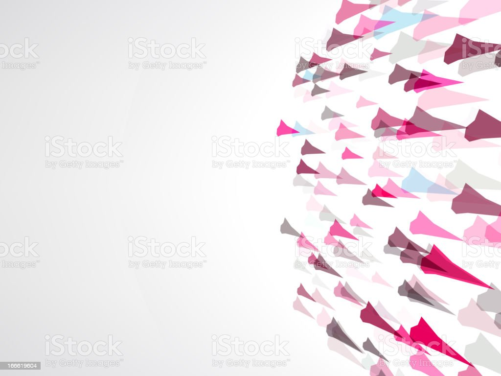 Abstract fly glass shapes.  + EPS8 royalty-free stock vector art