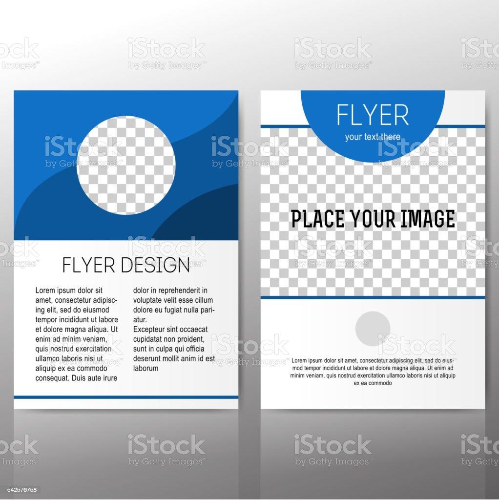 Abstract flyer vector template vector art illustration
