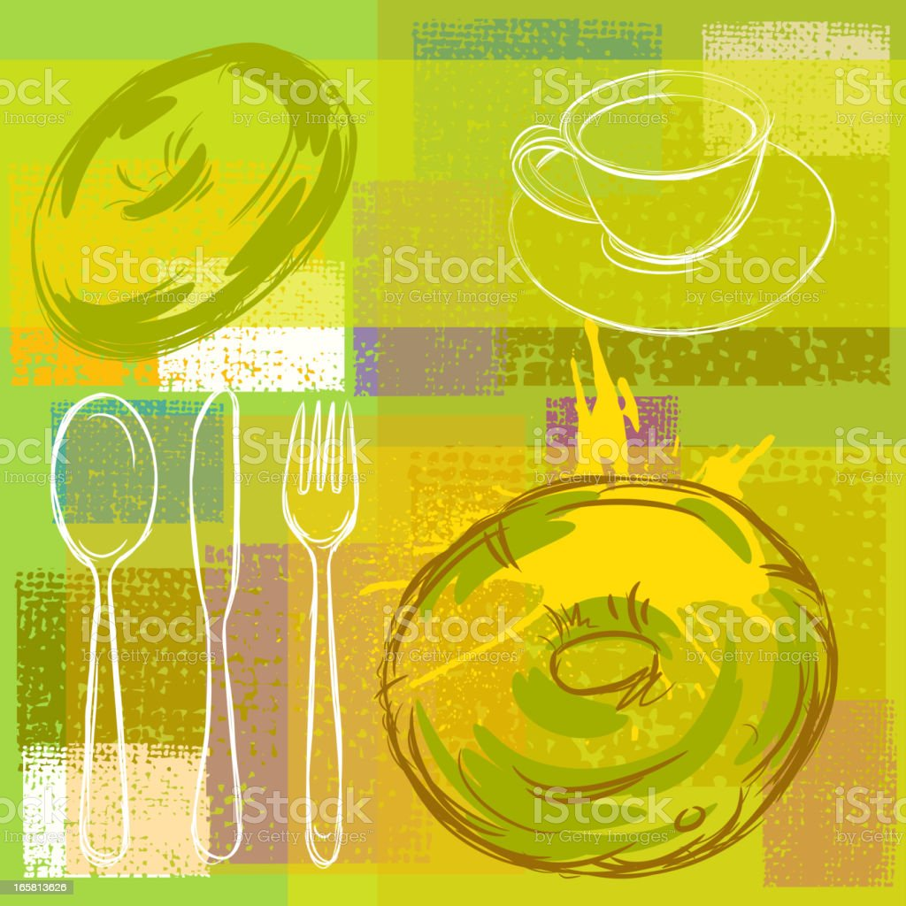 Abstract Food Background vector art illustration