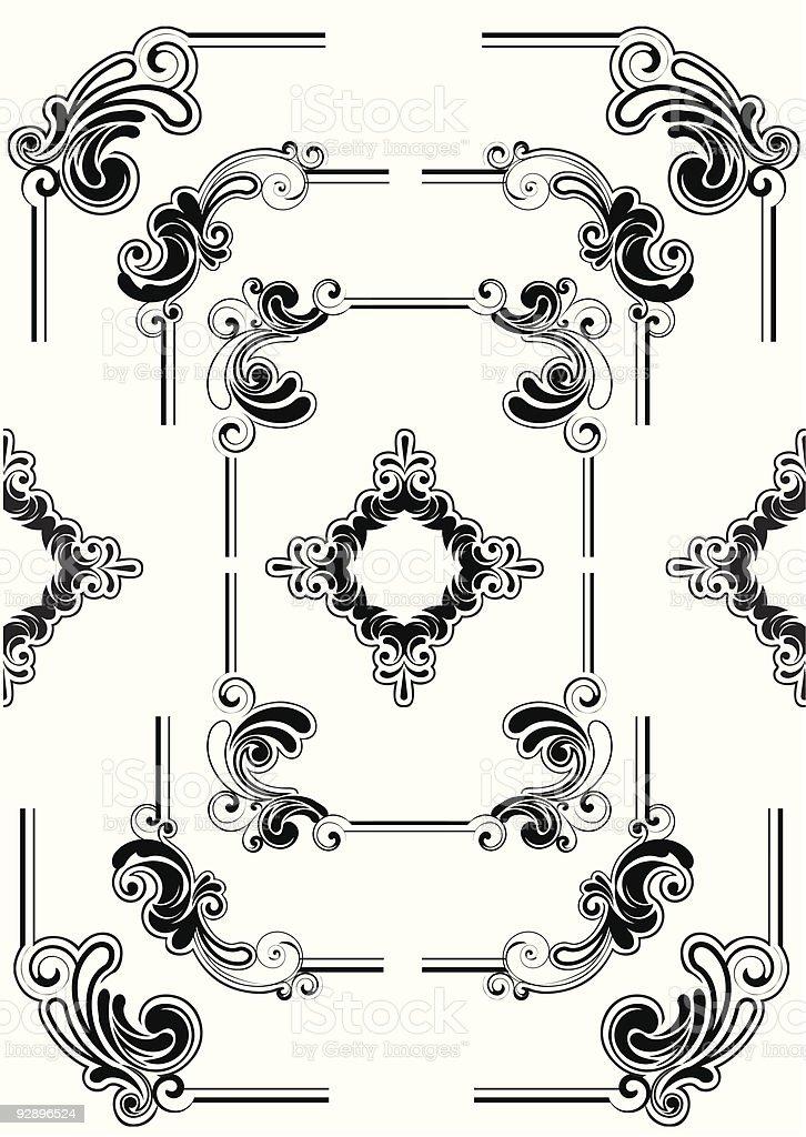 Abstract frame design royalty-free stock vector art