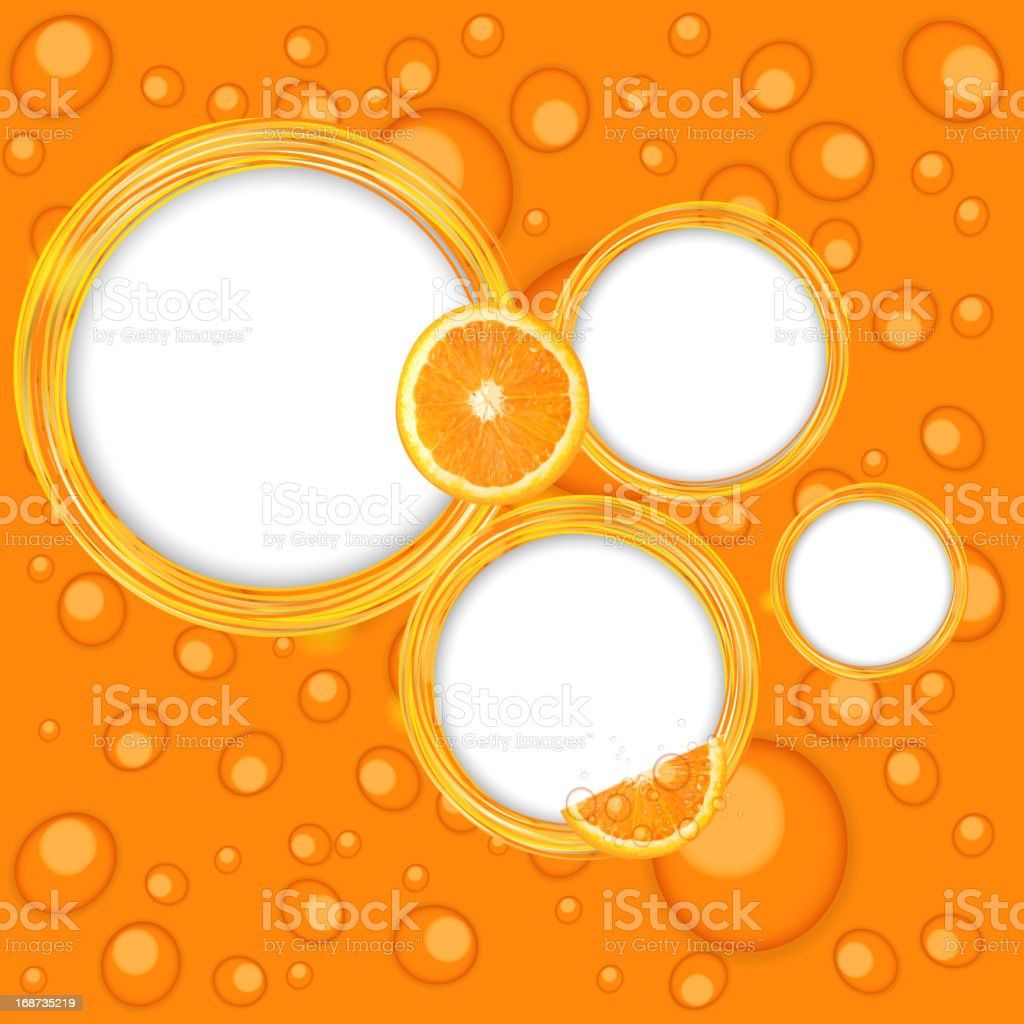 Abstract frame with orange vector illustration royalty-free stock vector art