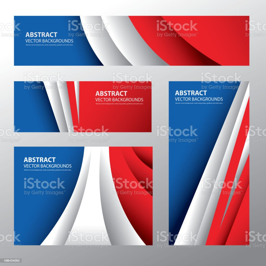 Abstract France Flag, French Colors (Vector Art) vector art illustration