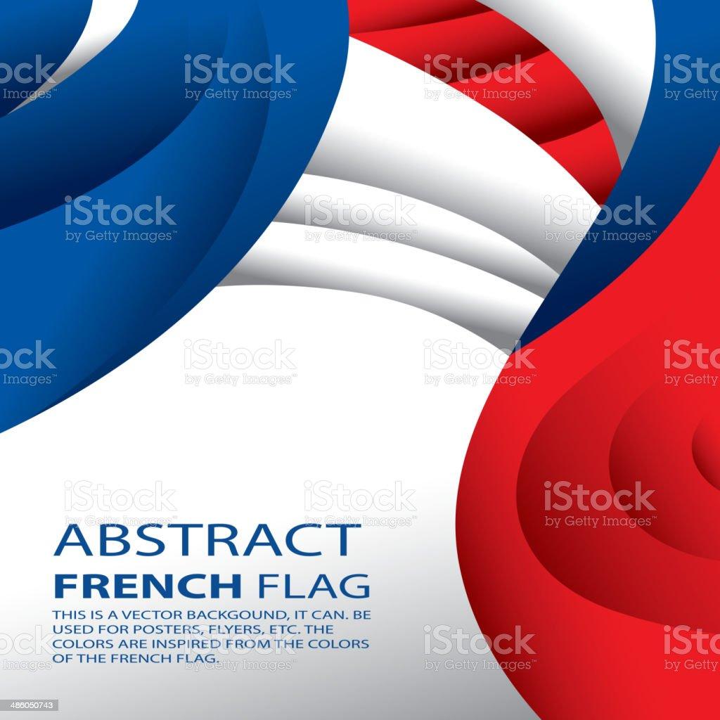 Abstract France, French Flag (vector Art) vector art illustration