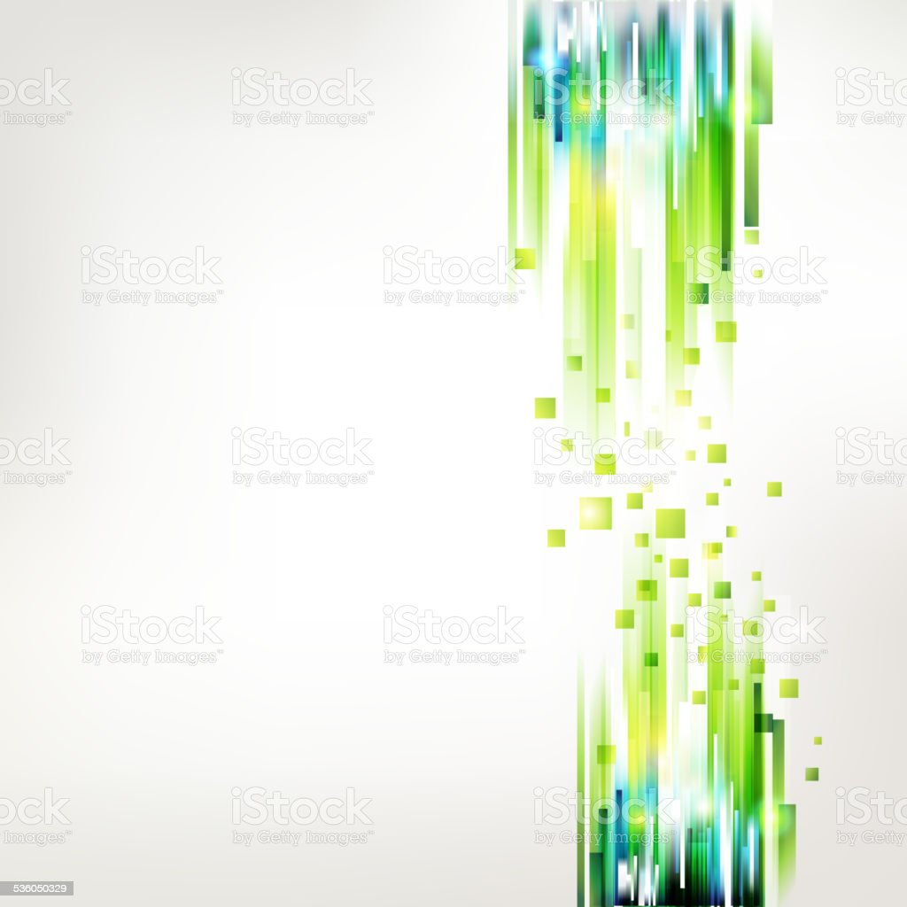 Abstract fresh green linear connections vector art illustration
