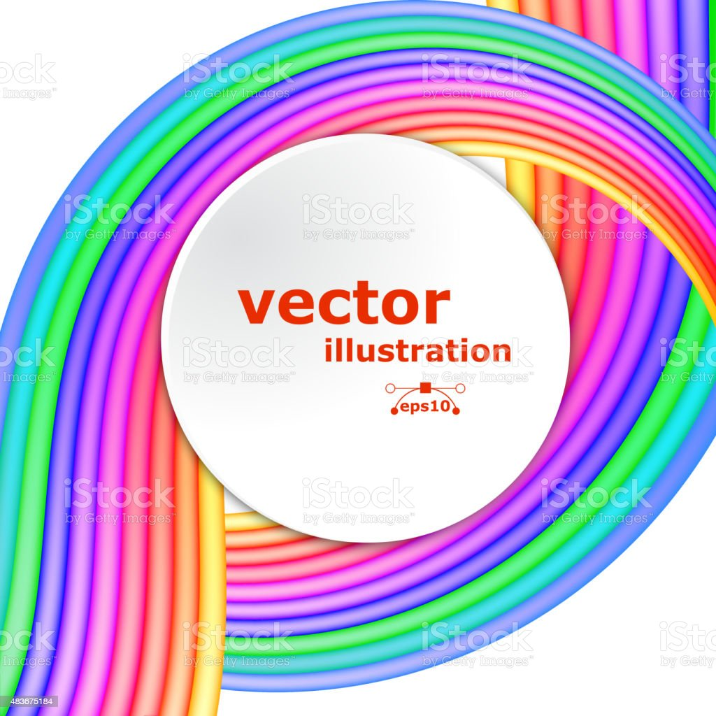 Abstract fullcolor background with colored stripes vector art illustration
