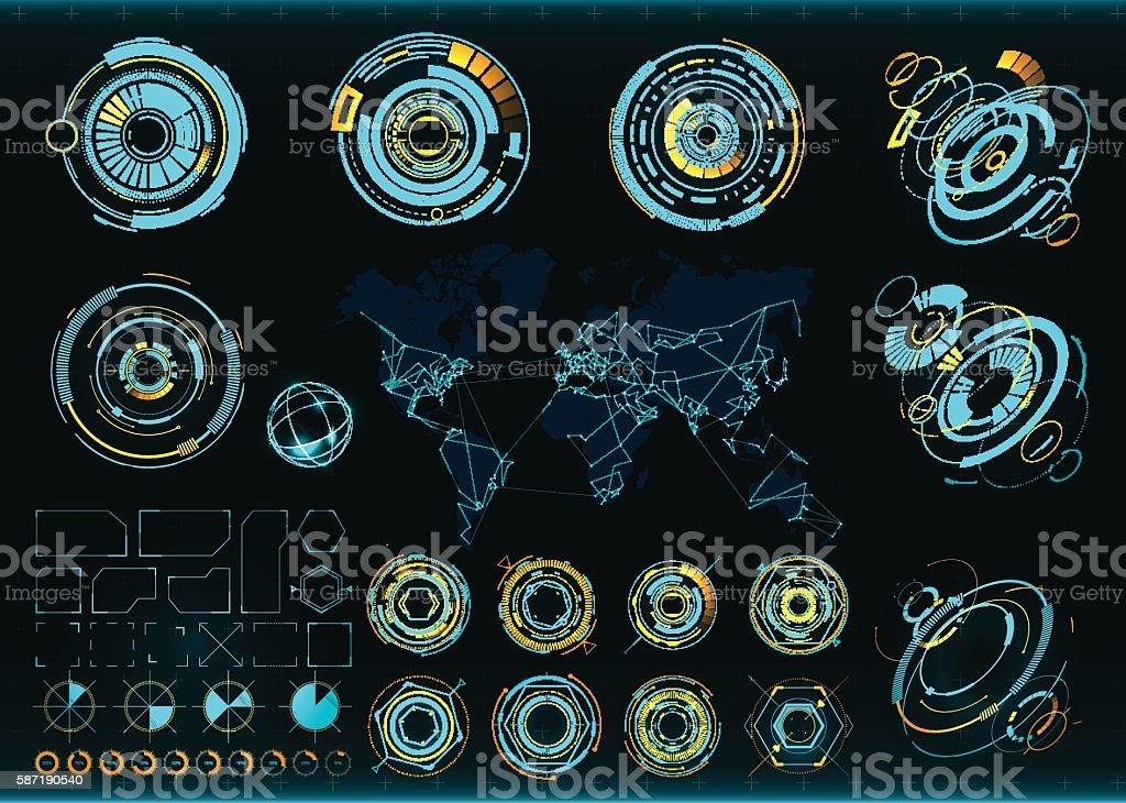 Abstract future, concept vector futuristic interface vector art illustration