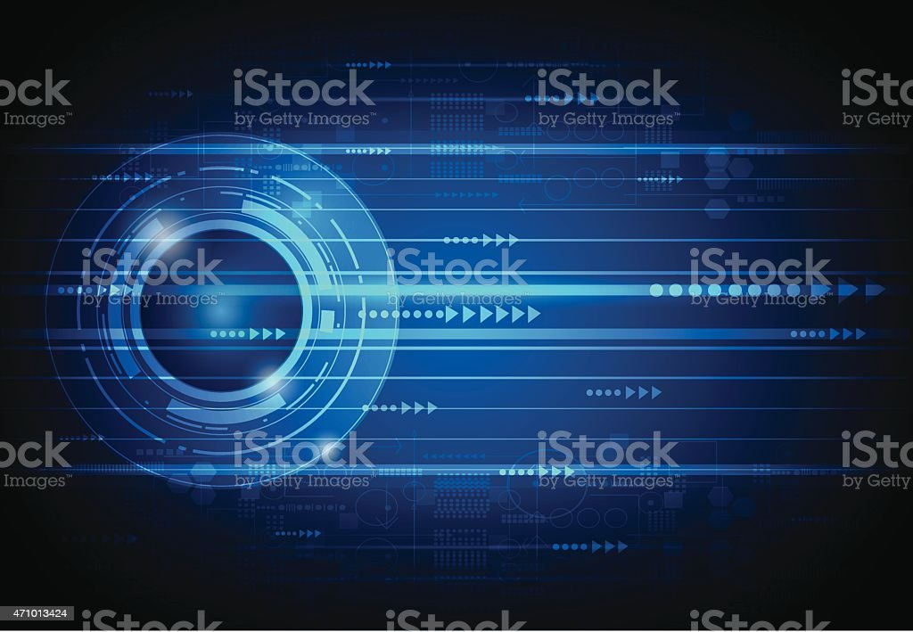 Abstract future digital science technology concept vector art illustration