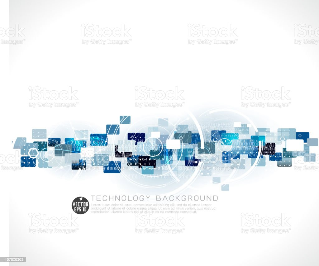 Abstract futuristic circuit technology background, vector illustration vector art illustration