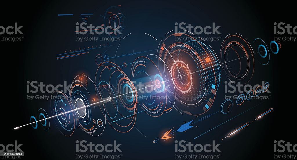 Abstract futuristic design background vector art illustration