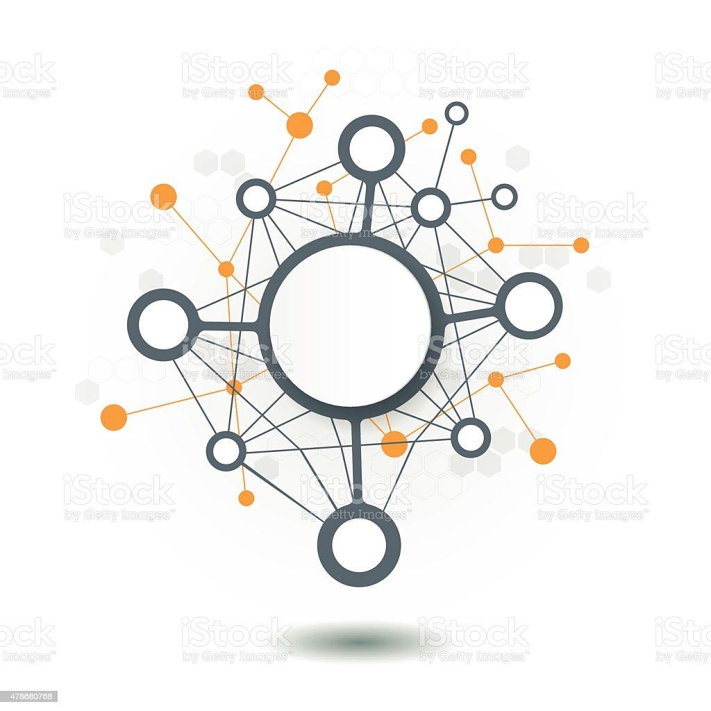 Abstract futuristic - Molecules technology vector art illustration