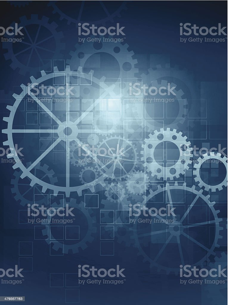 Abstract gears background vector art illustration