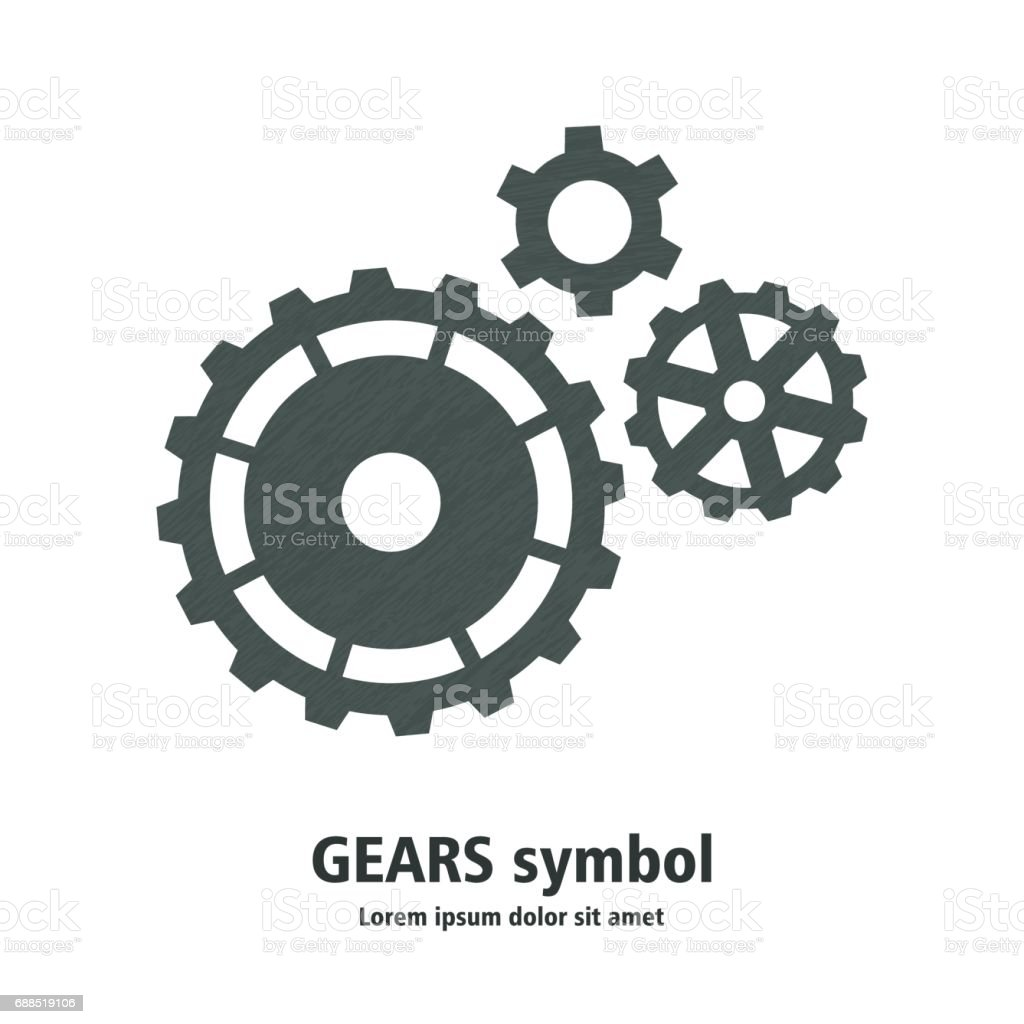 Abstract gears logo template for your business. vector art illustration
