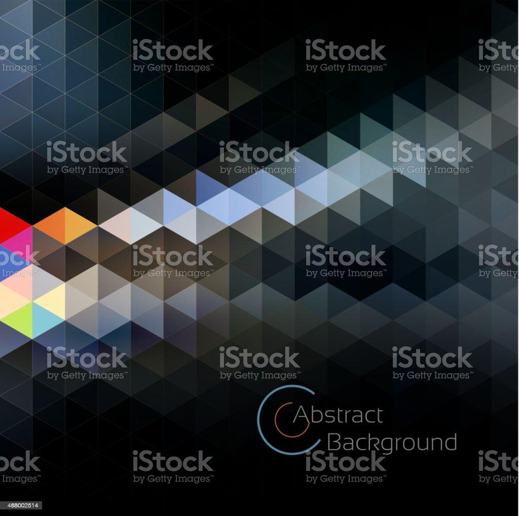 Abstract geo background vector art illustration