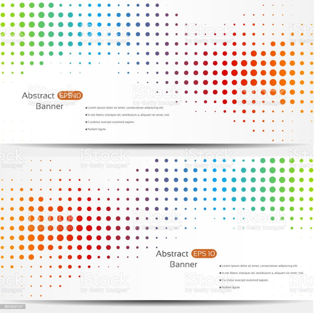 Abstract geo banners vector art illustration