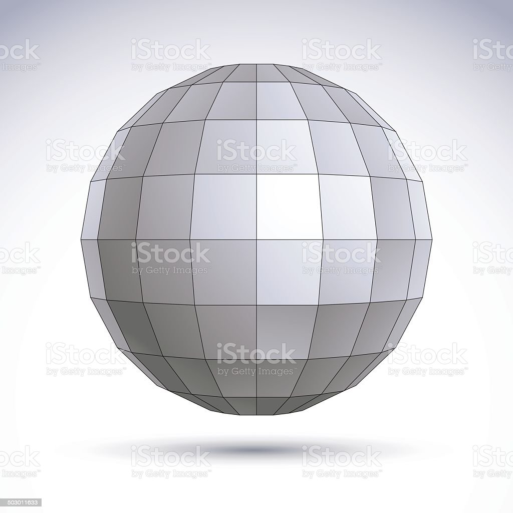 Abstract geometric 3D object, technology and science royalty-free stock vector art