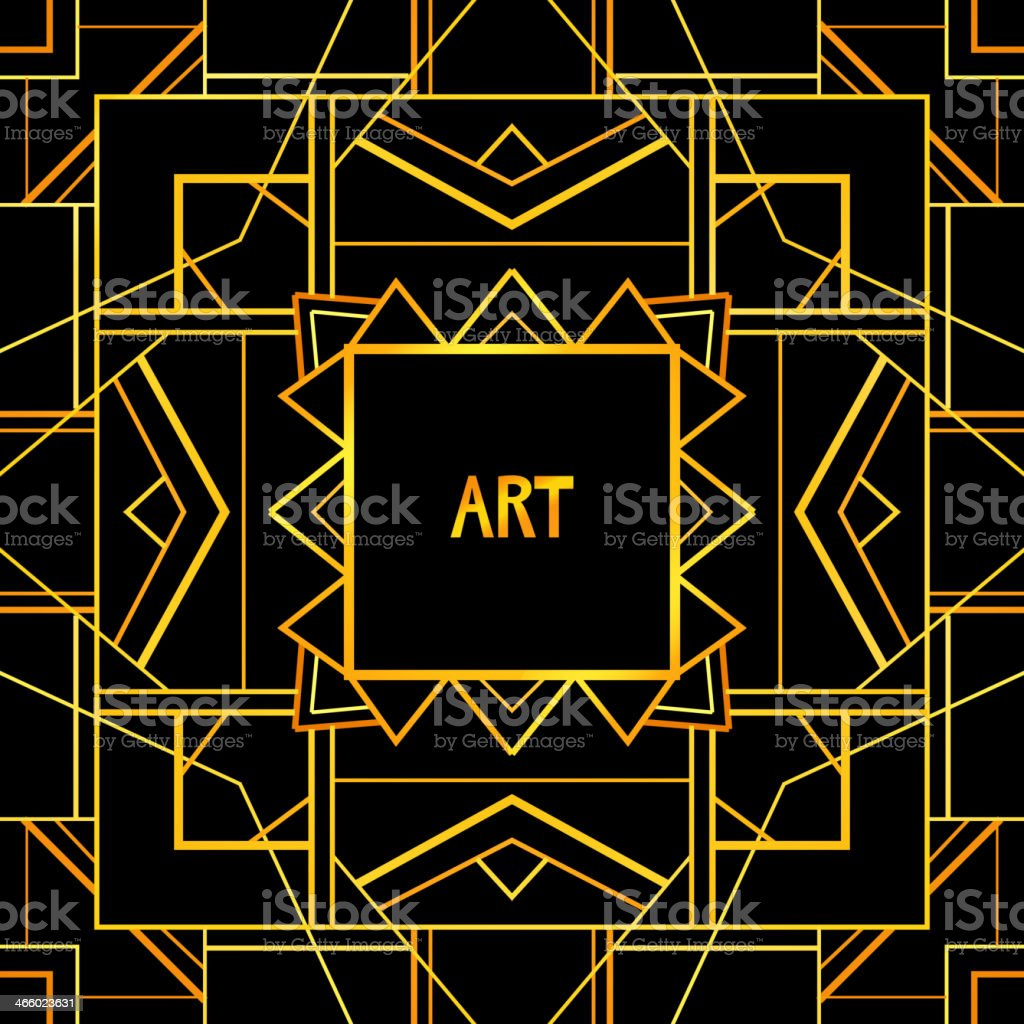 Abstract geometric art patterned background (1920's style). royalty-free stock vector art