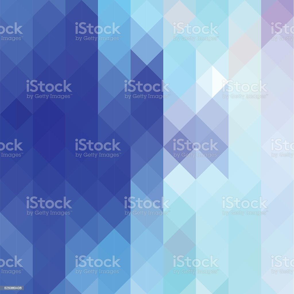 Abstract geometric background - blue vector art illustration