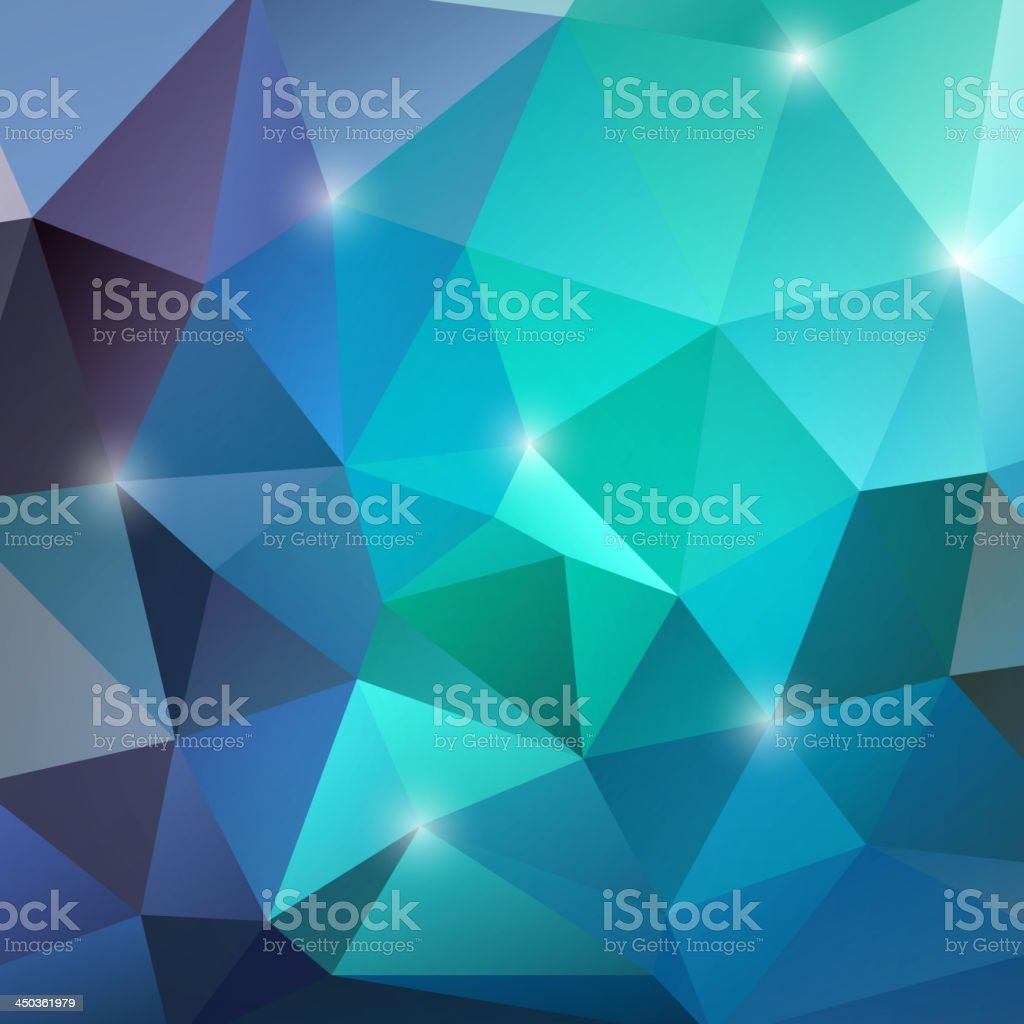 Abstract geometric background in various blue tones royalty-free stock vector art