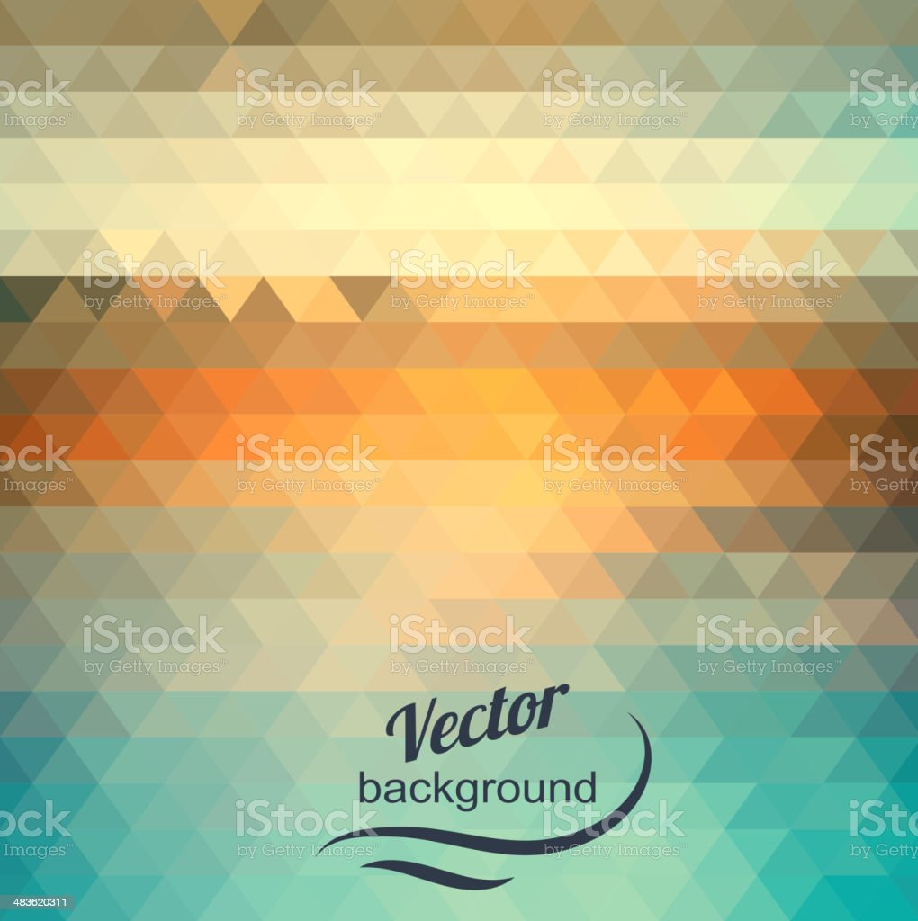 Abstract geometric background of the triangles vector art illustration