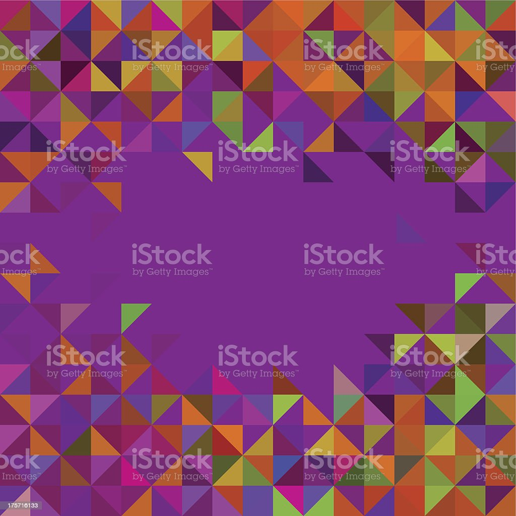 Abstract Geometric Background. Trendy Mosaic royalty-free stock vector art