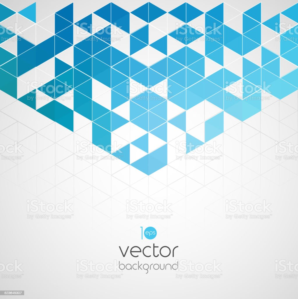 Abstract geometric background with color triangle vector art illustration