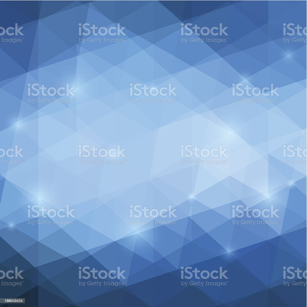 A abstract geometric blue background royalty-free stock vector art