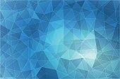 Abstract geometric blue background with triangular polygons