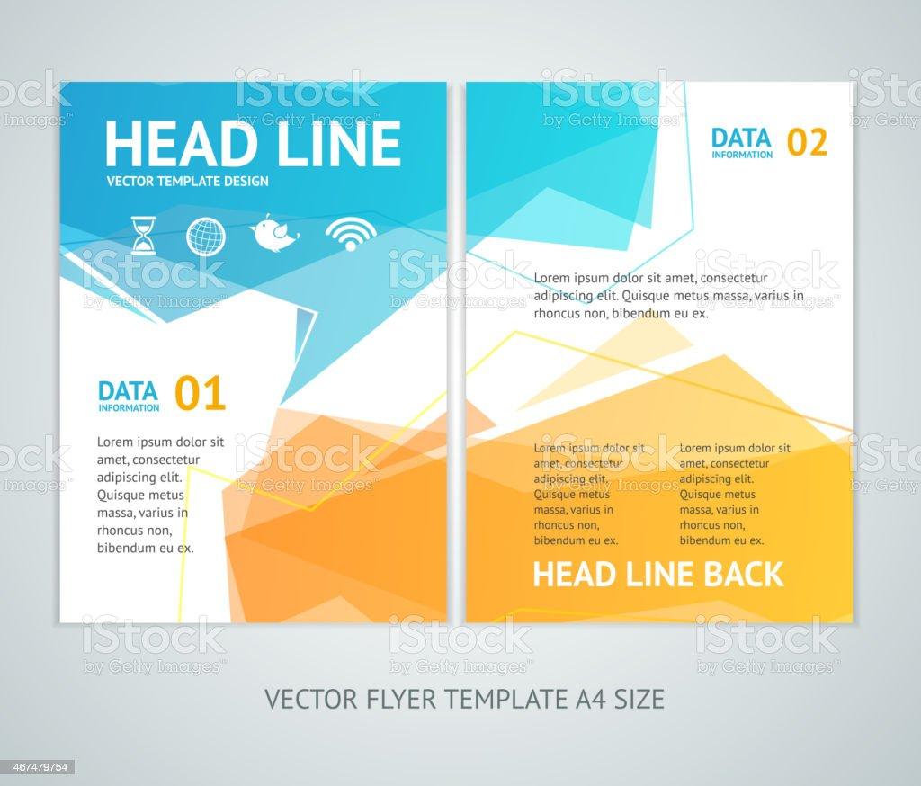 Abstract geometric brochure template vector art illustration