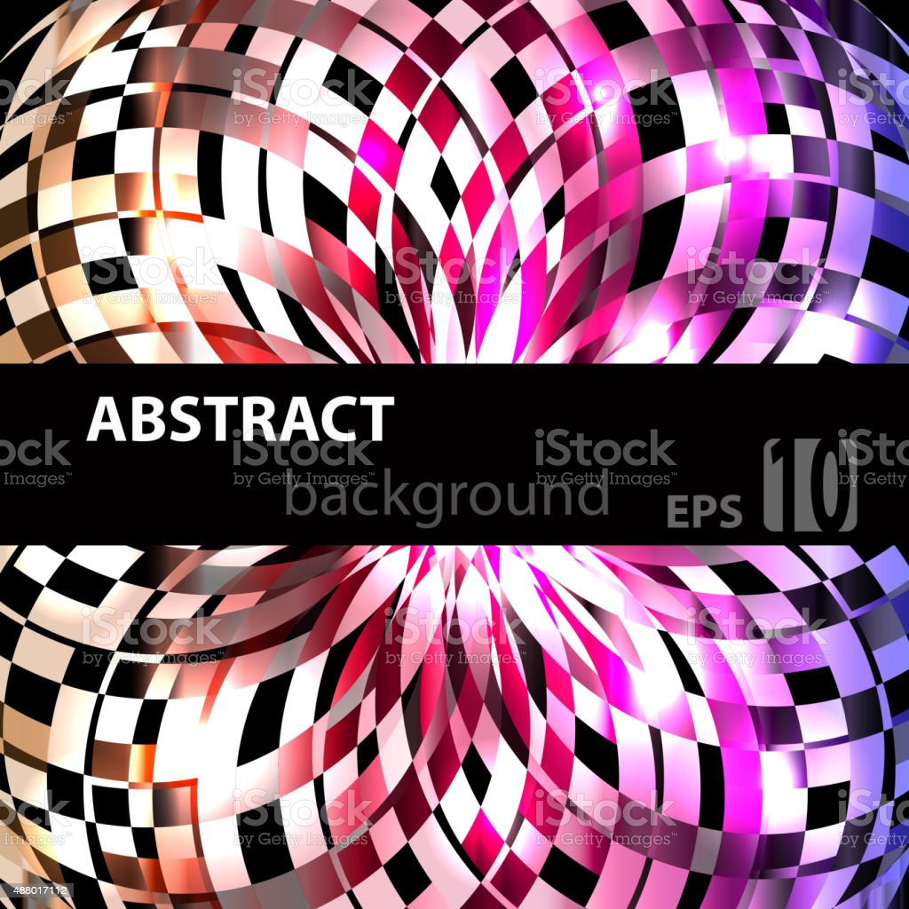 Abstract geometric disco glowing of background. Vector illustration vector art illustration