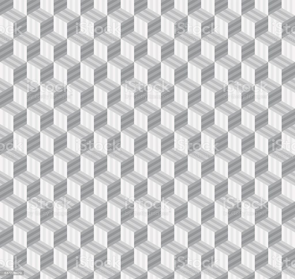 Seamless Geometric Pattern With Cubes. Royalty Free Stock ...