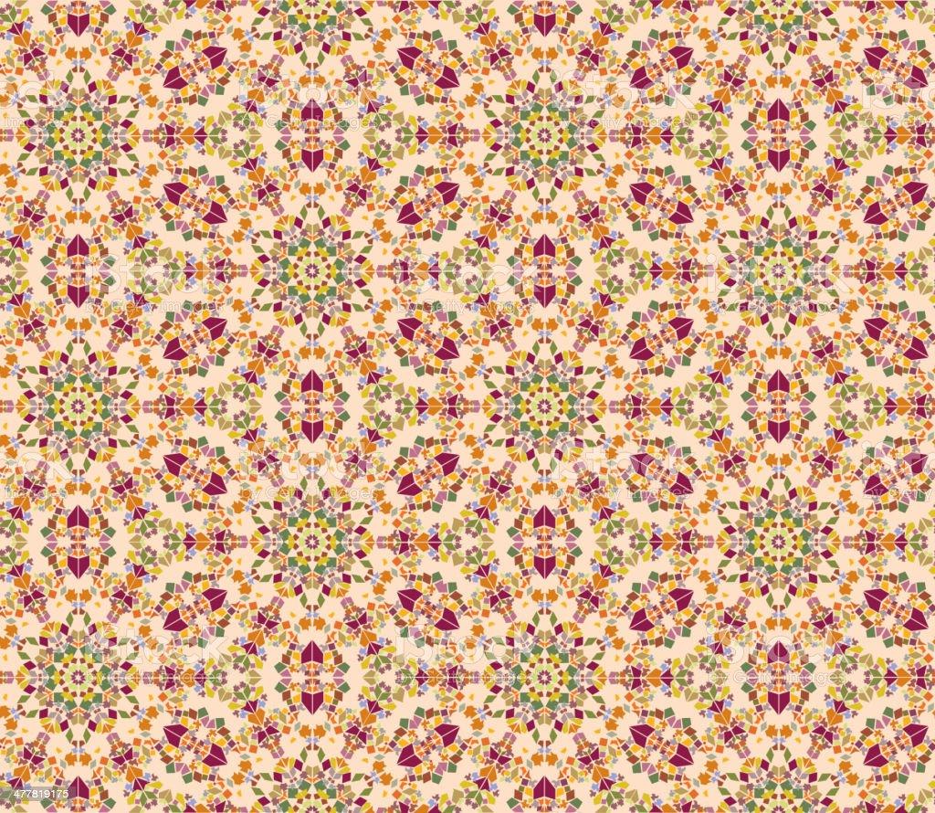 Abstract geometric kaleidoscope seamless background. royalty-free stock vector art