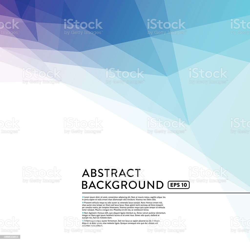 Abstract Geometric Low Poly Background vector art illustration