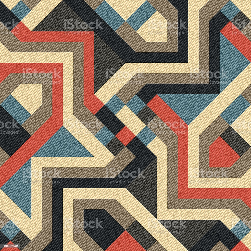 Abstract geometric ornament in different warm colors royalty-free stock vector art