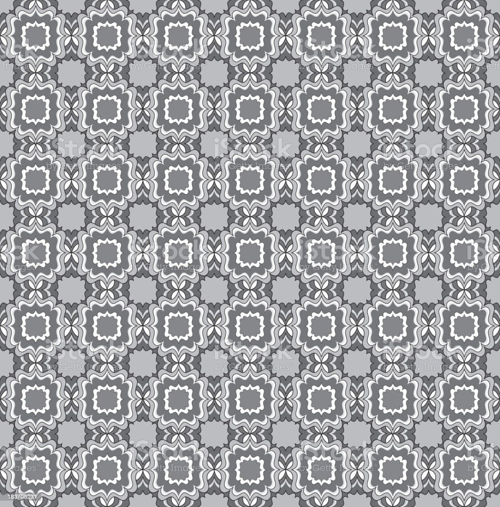 Abstract geometric ornament seamless tile pattern royalty-free stock vector art