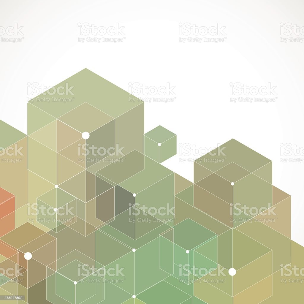 Abstract geometric pattern background in green tones vector art illustration