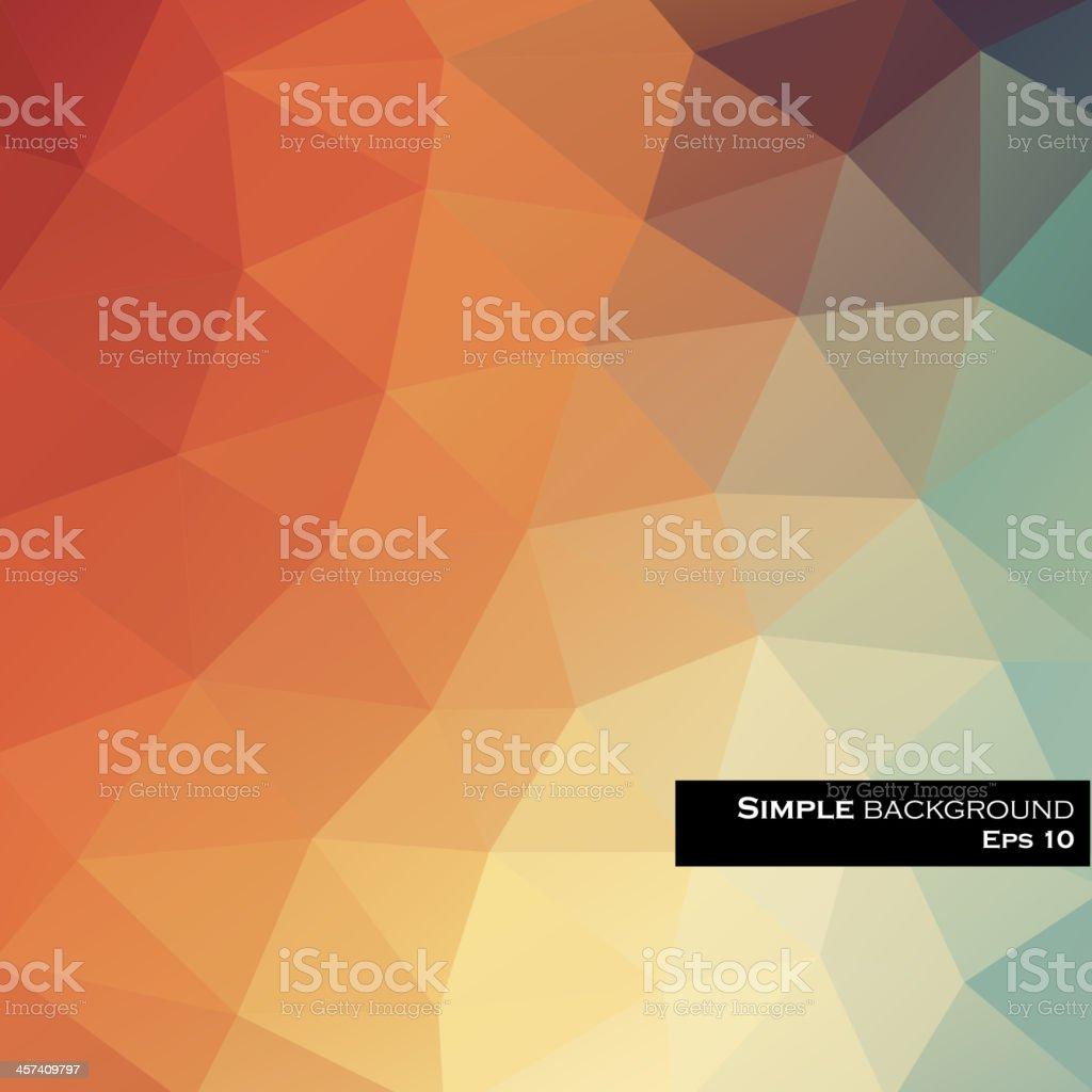 Abstract geometric rainbow background vector art illustration
