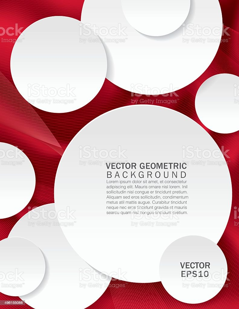 Abstract Geometric Report Cover Or Background Template vector art illustration