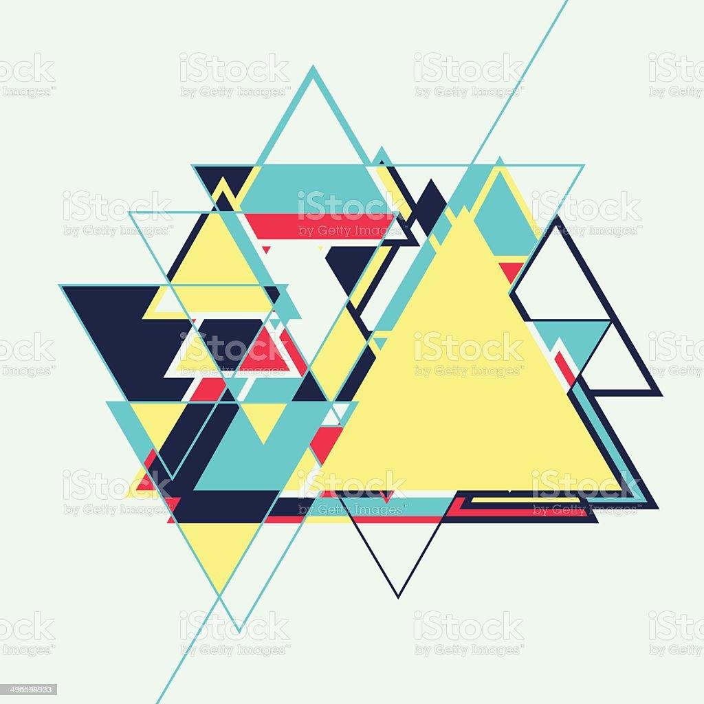 Abstrato geométrico retrô vector Fundo colorido vetor e ilustração royalty-free royalty-free