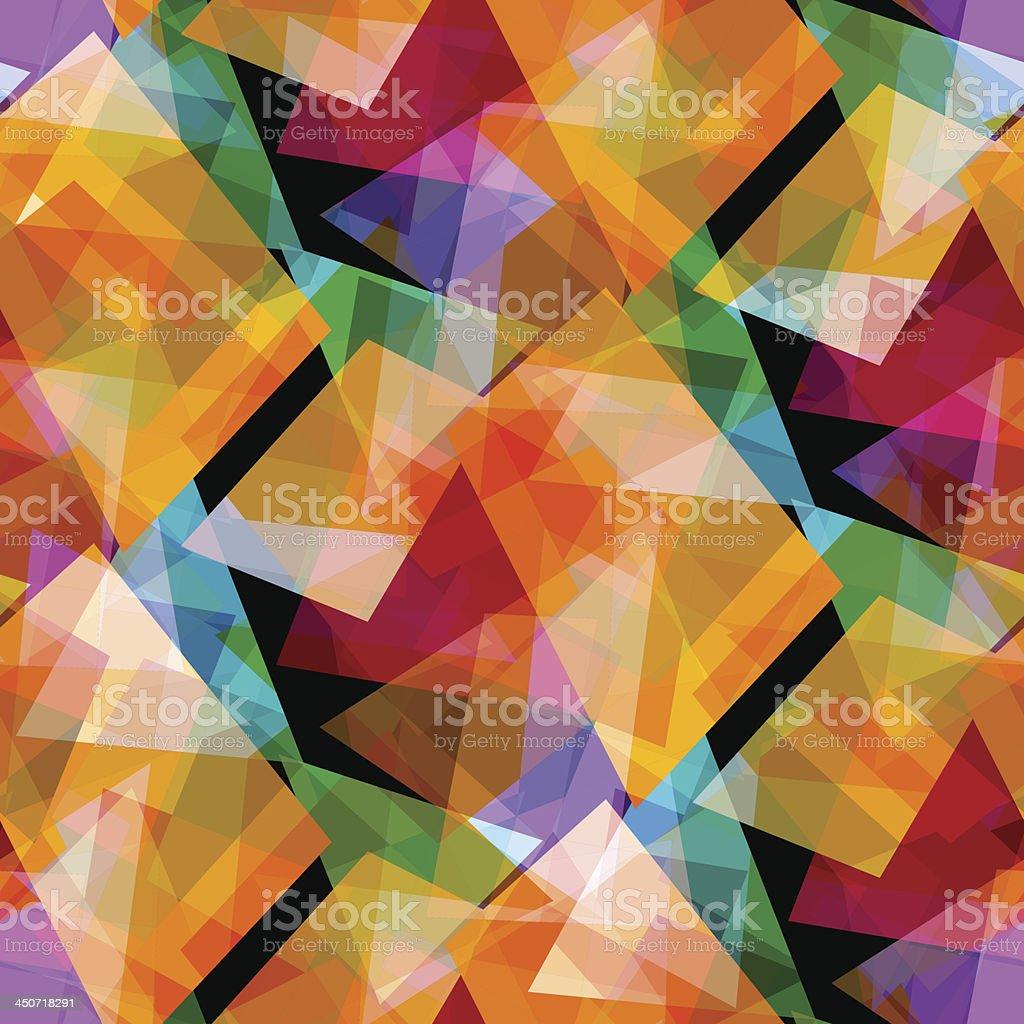 Abstract geometric screensaver pattern vector art illustration