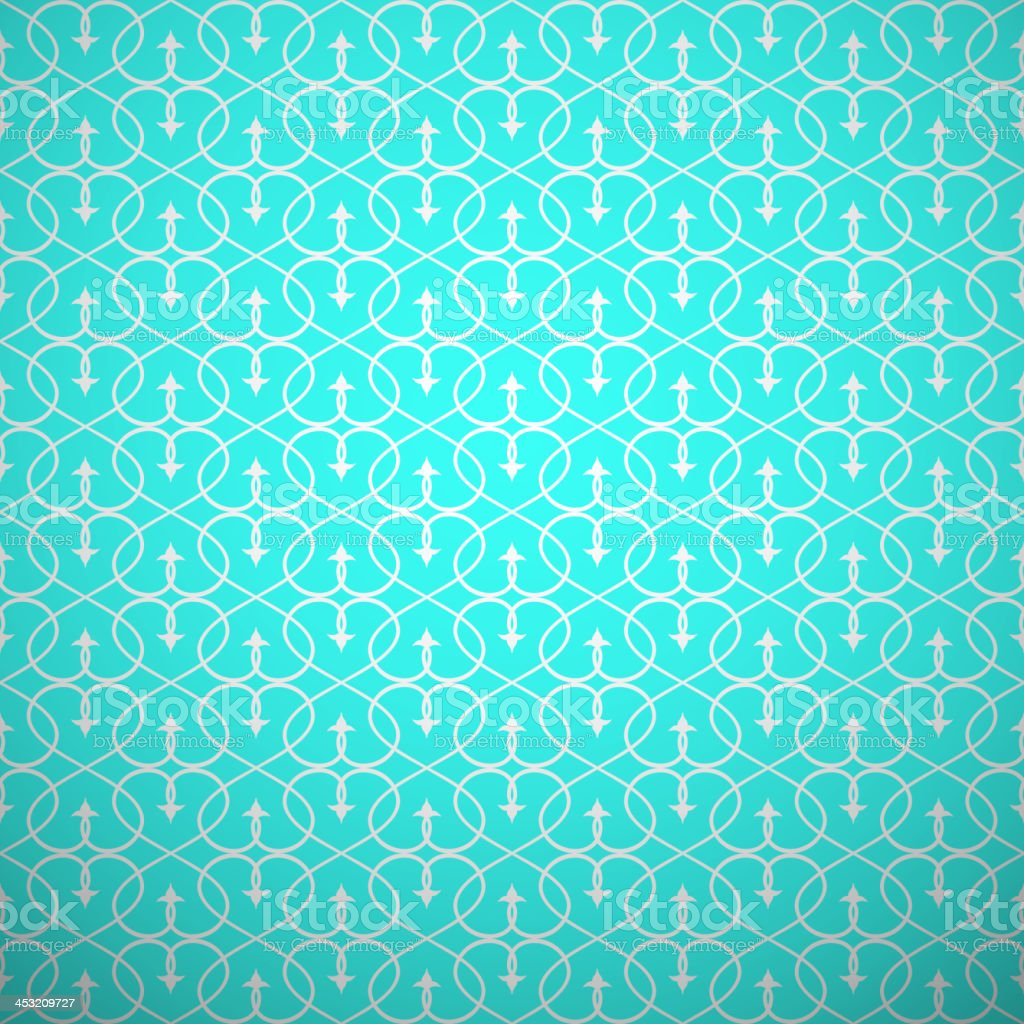 Abstract geometric seamless pattern. Aqua and white style royalty-free stock vector art
